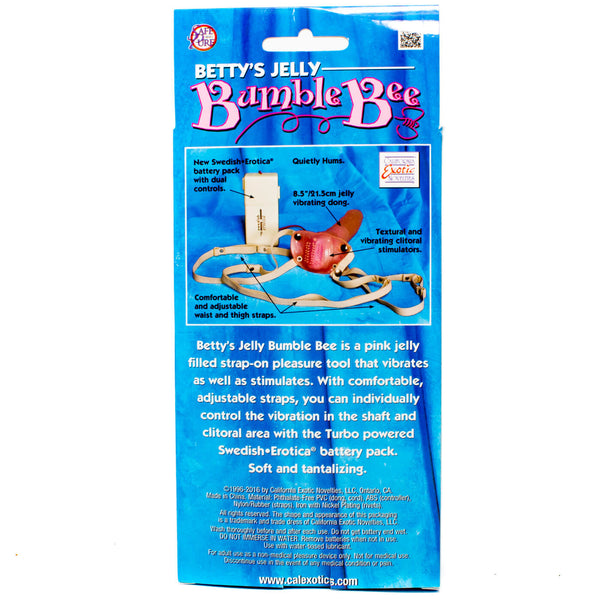 Betty's Jelly Bumble Bee Vibrating Strap On