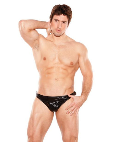Zeus Wet Look Tear-Away Thong O/S (Mens)
