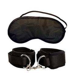 Heavy Duty Cuffs and BDSM Mask - Bestseller! by  Pipedream -