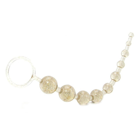 X-10 Extreme Pure Gold Anal Beads in Platinum