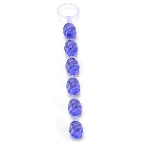 Swirl PVC Pleasure Beads With Retrieval Ring