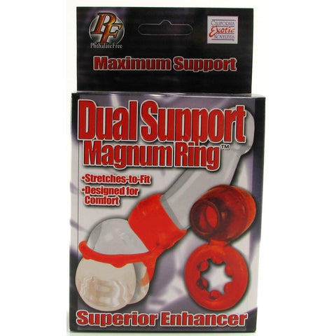 Dual Support Magnum Ring in Red