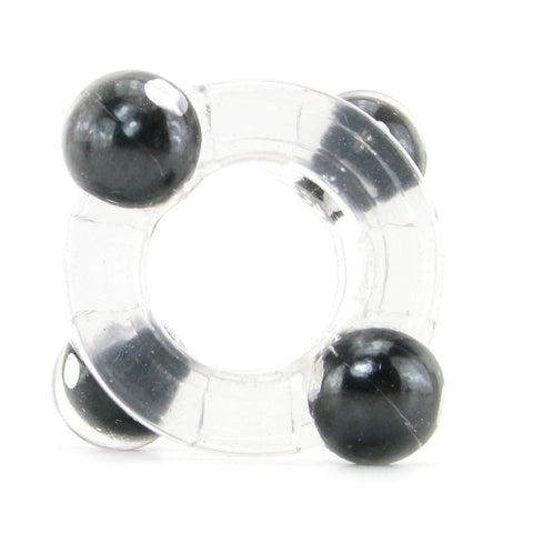 Magnetic Power Double Cock Ring in Clear and Blue