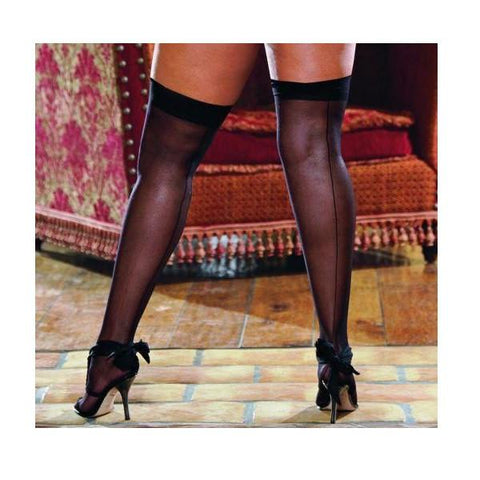 Thigh High Sheer Black Os Queen Inmoulinin
