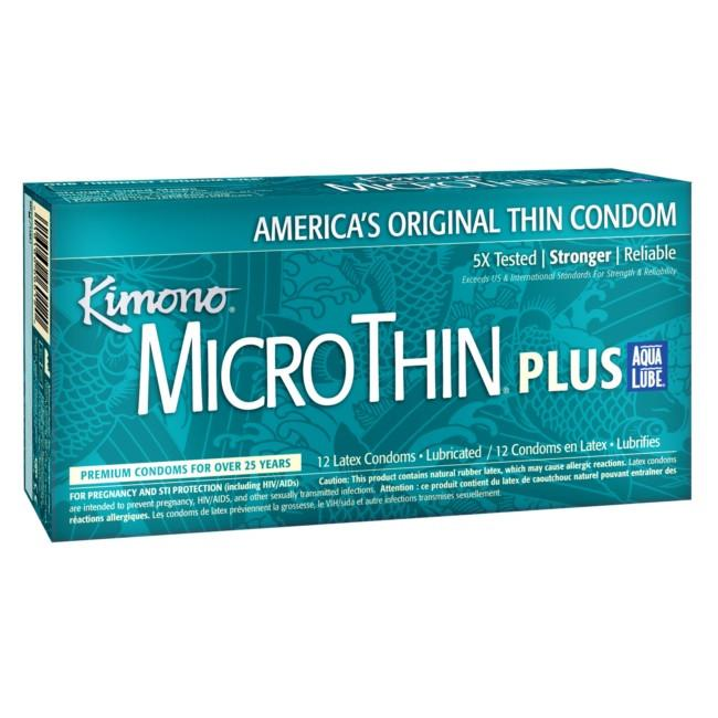 Kimono MicroThin Aqua Lube Condoms in 3 Pack