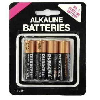 Duracell AA Batteries 4 Pack Carded by  Simpli -