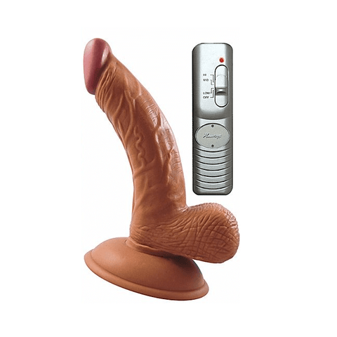 Latin American Mini Whoppers 5 Inch Curved Vibrating Dildo