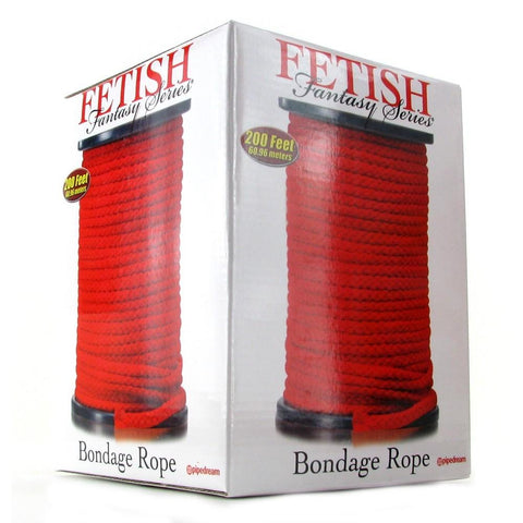 Fetish Fantasy Bondage Rope 200 Feet in Red