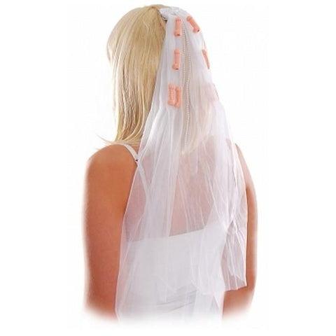Bachelorette Pecker Wedding Veil