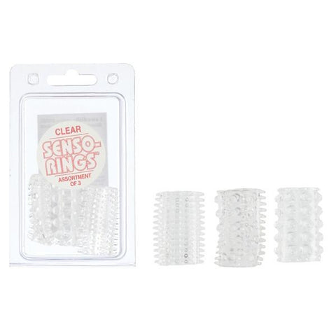 Senso Cock Rings 3 Pack in Pink