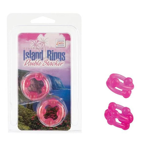 Silicone Island Ring Double Stacker in Glow in the Dark