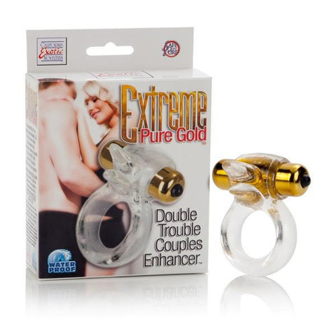 Extreme Gold Double Trouble Couples Enhancer Ring