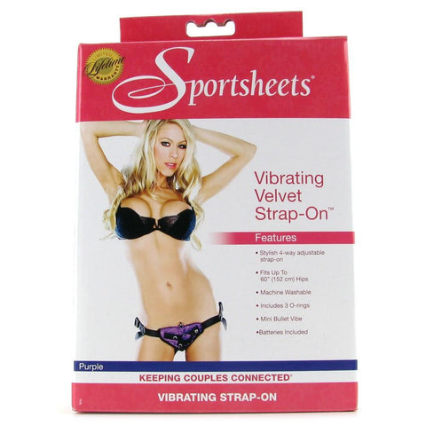 Sportsheets Vibrating Velvet Strap-On Harness