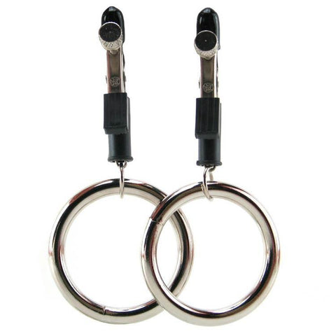 Nipple Clamps With Large Metal Ring by Spartacus