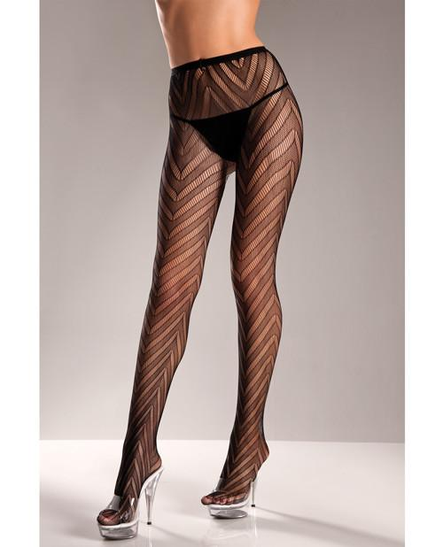 Lycra Lace Panthose Black by  BEW -