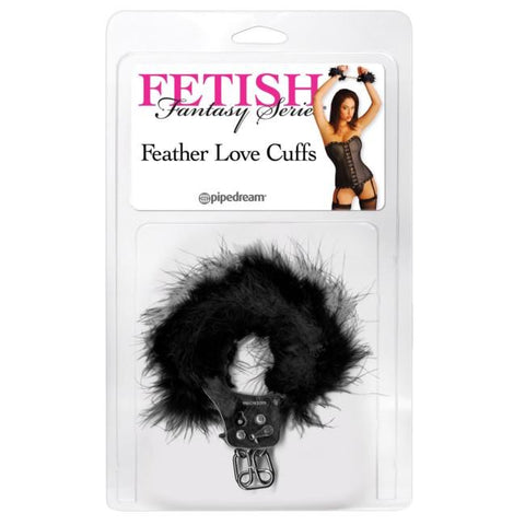 Fetish Fantasy Feather Love Cuffs in Red