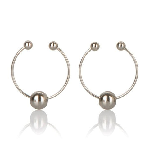 Non-Piercing Nipple Rings in Silver