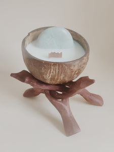 Large moonstone candle *limited edition!*.