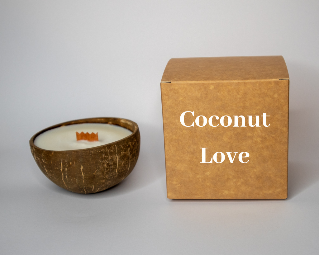 Coconut Love Kokosnoot kaars.