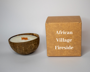 African Village Fireside Coconut Candle.