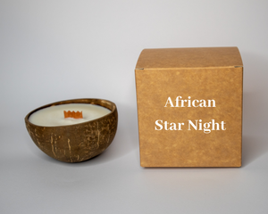 African Star Night Coconut Candle.