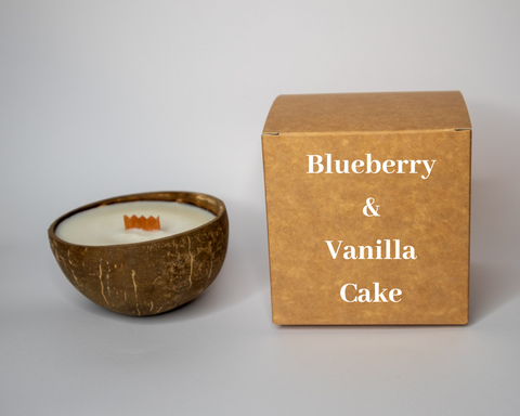 Blueberry & Vanilla Cake Candle