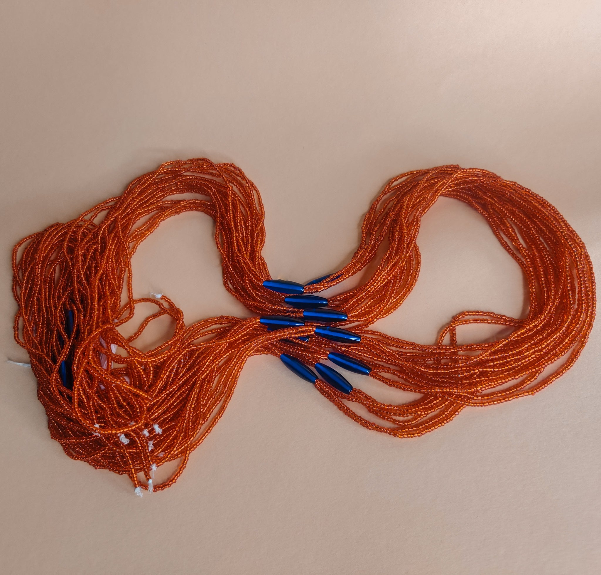 3 in 1 orange heart waistbeads