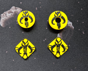 Scum and Villainy Faction Target Locks and Base Marker Inserts for Small, Medium, and Large Ships