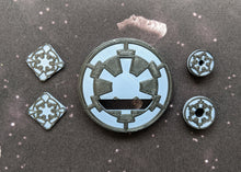 Load image into Gallery viewer, Galactic Empire Dial Cover, Target Locks, and Base Marker Inserts for Small, Medium, and Large Ships