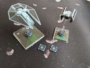 Galactic Empire Dial Cover, Target Locks, and Base Marker Inserts for Small, Medium, and Large Ships