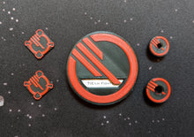 Load image into Gallery viewer, Inferno Squadron Dial Cover, Target Locks, and Base Marker Inserts for Small, Medium, and Large Ships