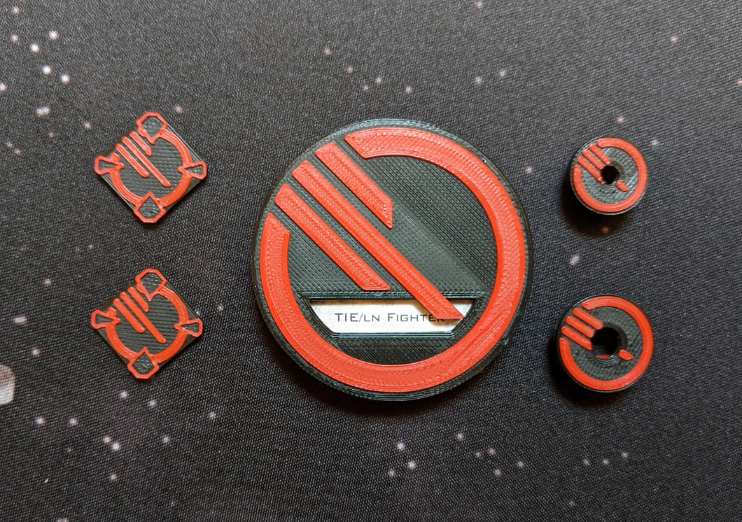 Inferno Squadron Dial Cover, Target Locks, and Base Marker Inserts for Small, Medium, and Large Ships
