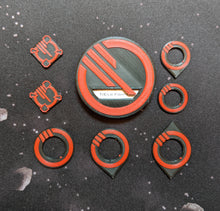 Load image into Gallery viewer, Inferno Squadron Ship ID Kit - Dial Cover, Arc Indicators, and Target Locks for Small, Medium, and Large Ships