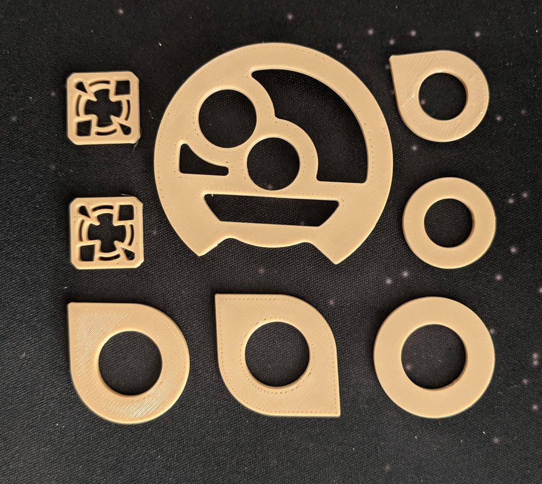Dial Cover, Target Locks, and Arc Indicators for Small, Medium, and Large Ships