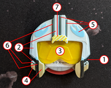 Load image into Gallery viewer, Rebel Alliance Pilot Helmet Dial Cover