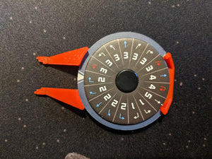 Tie/in Interceptor Dial Cover (Red and White)