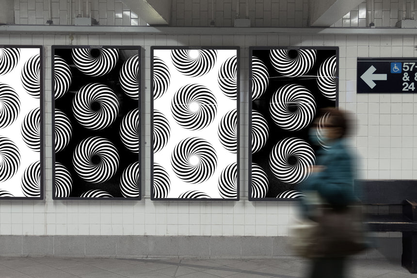 Digital Subway Advertisement Mockup
