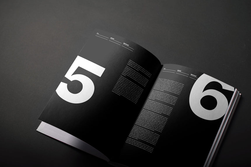 A4 Hardcover Book PSD Mockup  - Cover
