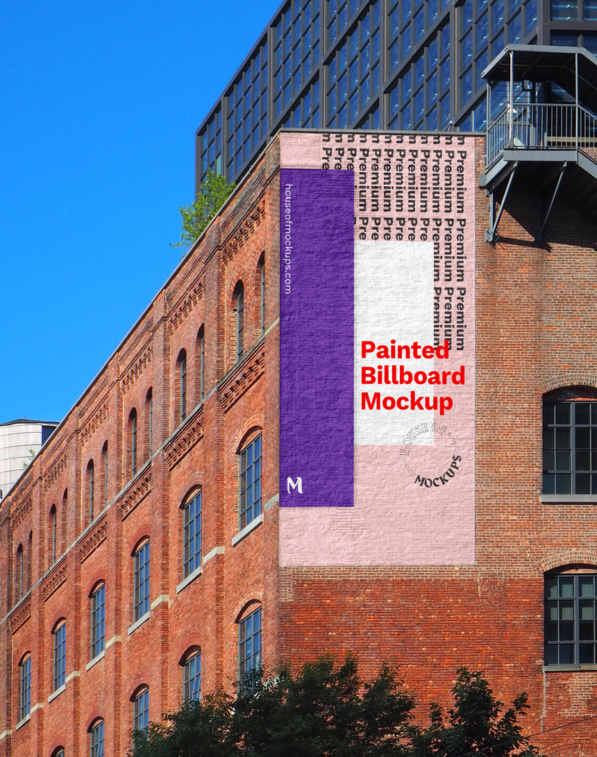 Williamsburg Hand Painted Billboard Mockup
