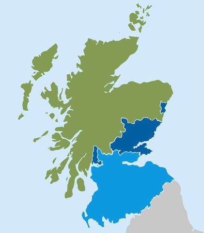 Scotland shipping map