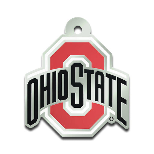 "1 1/2"" x 1 3/4"" Ohio State Mirrored Athletic O Keychain - Conrads College Gifts"
