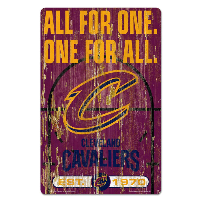 "11"" x 17"" Cleveland Cavaliers All For One Sign"