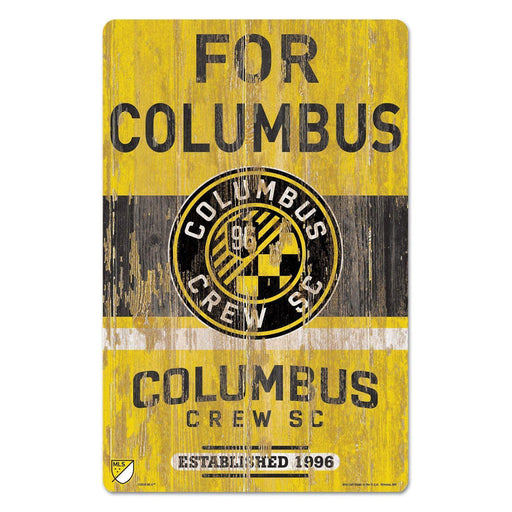 "11"" x 17"" Distressed Columbus Crew Wood Sign - Conrads College Gifts"