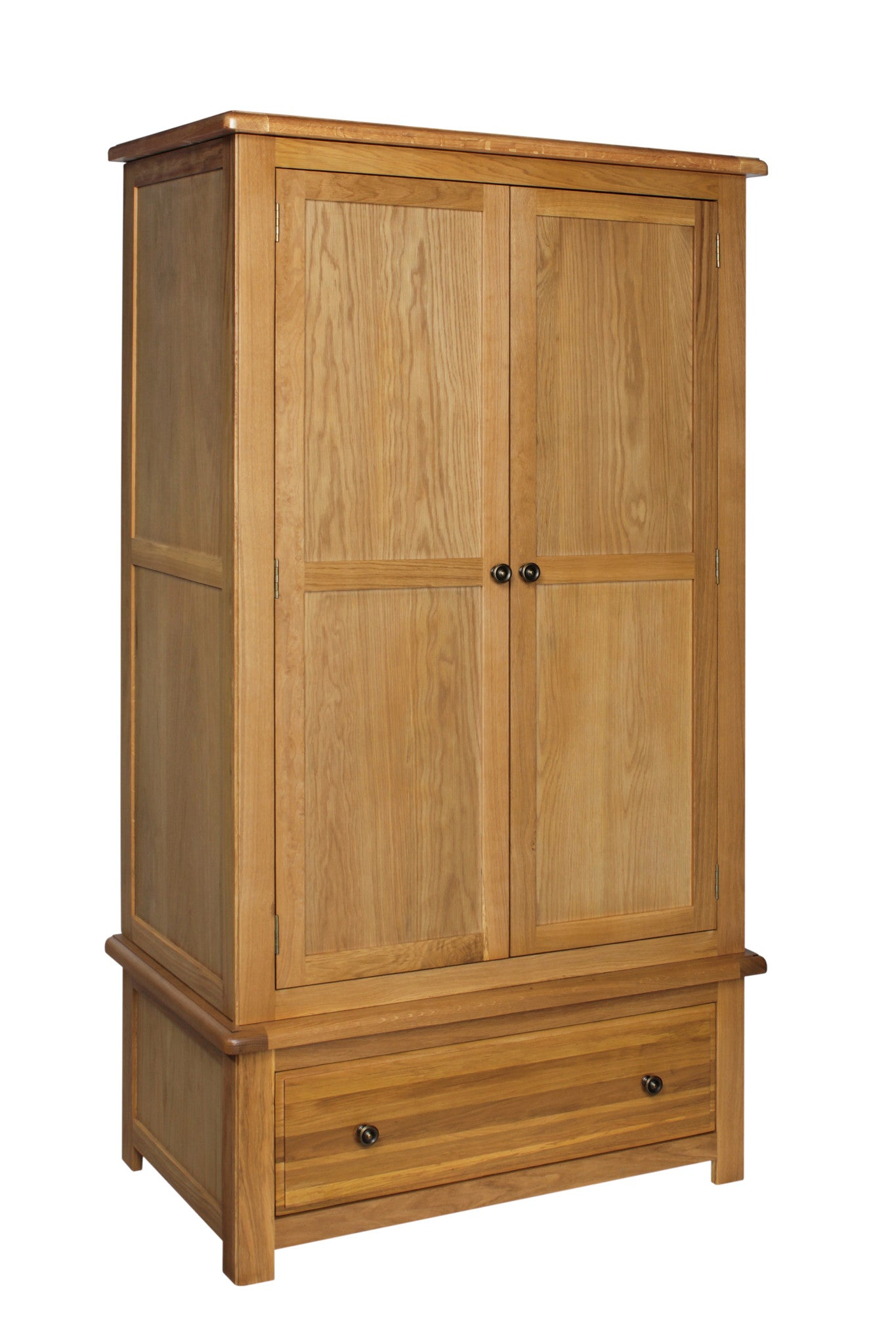 Stratton Solid Oak Gents Wardrobe