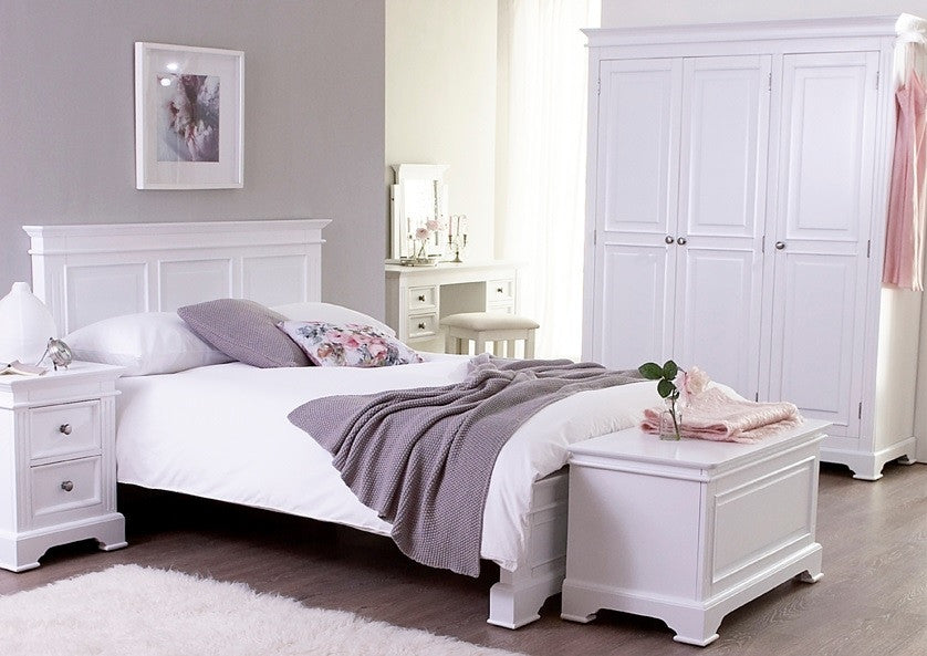 Pure White 2 Drawer Bedside