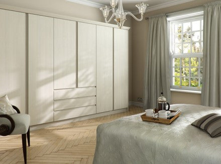Knebworth Fitted Wardrobes in Avola White