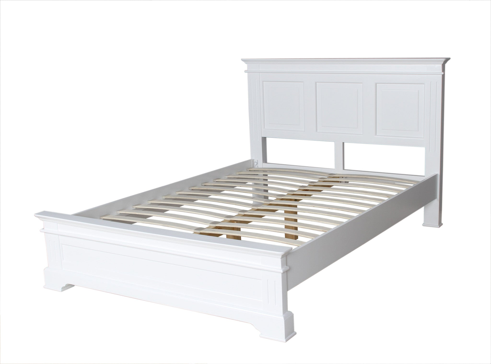 Pure White Double Bed
