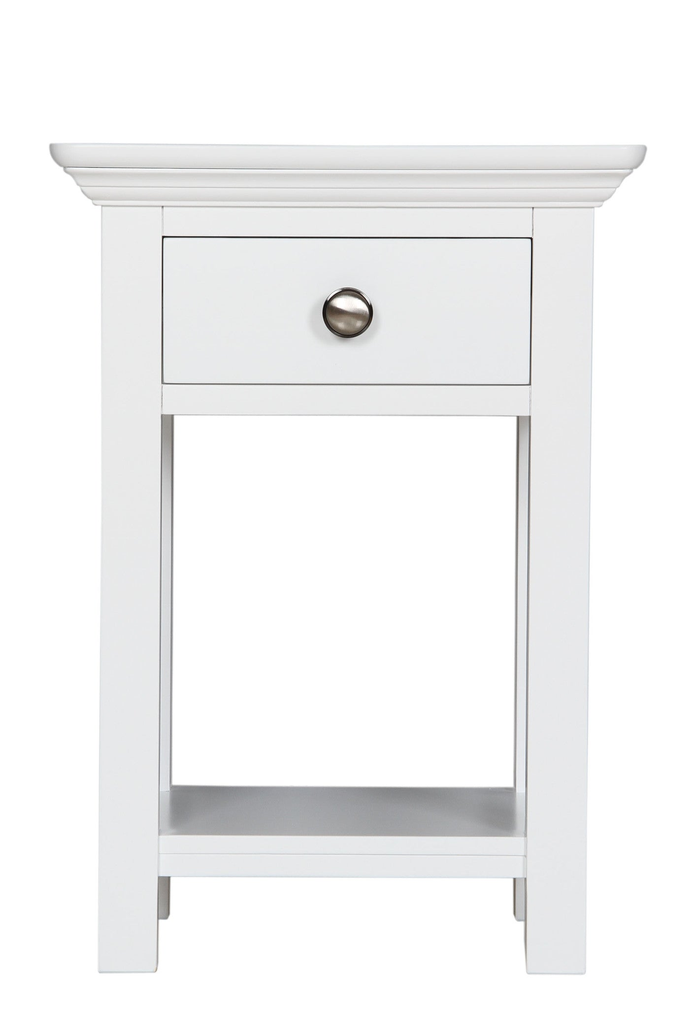 White Bedside with dovetail draw by The Cheshire Bedroom Co.