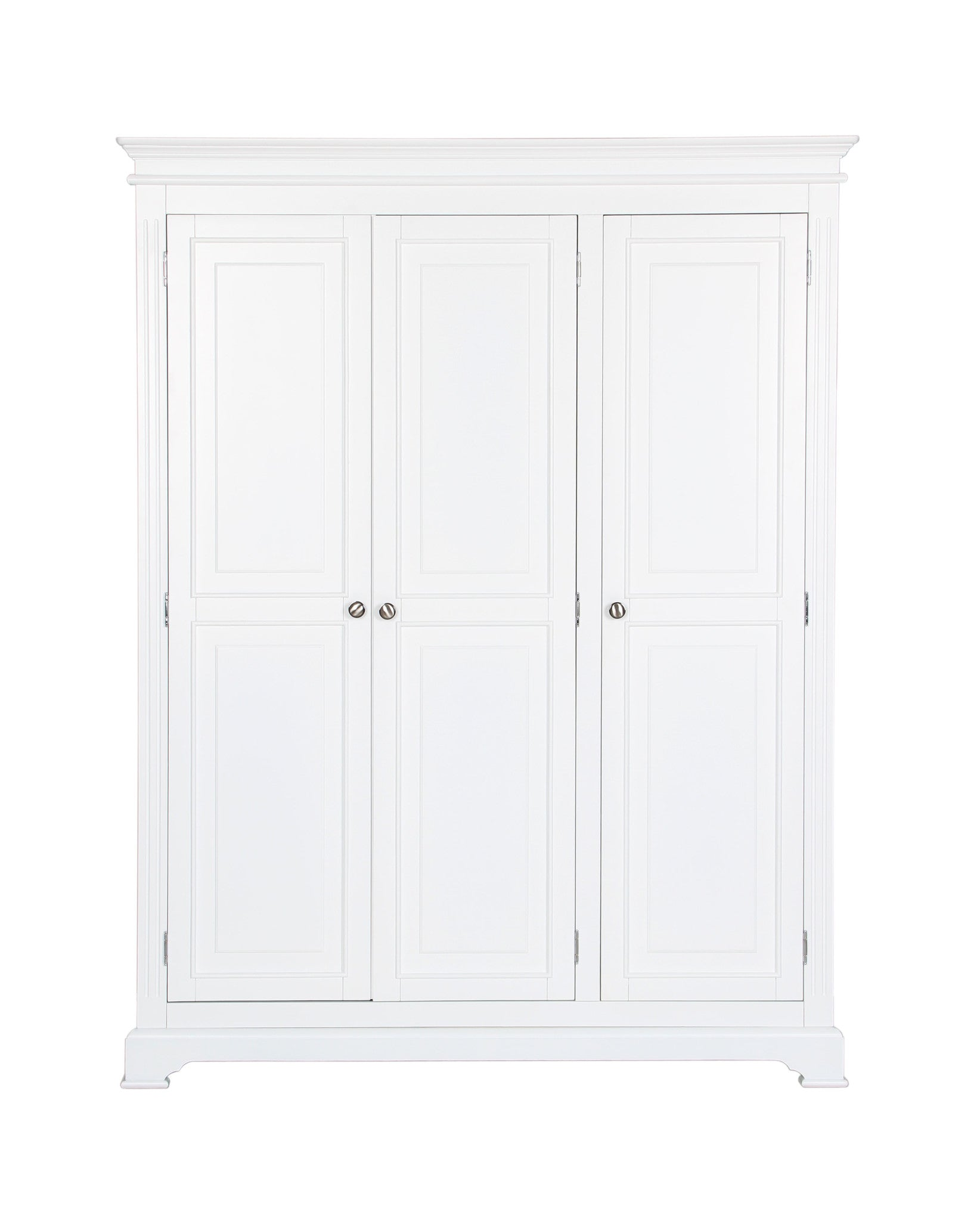 Painted White 3 door wardrobe by Cheshire Bedrooms