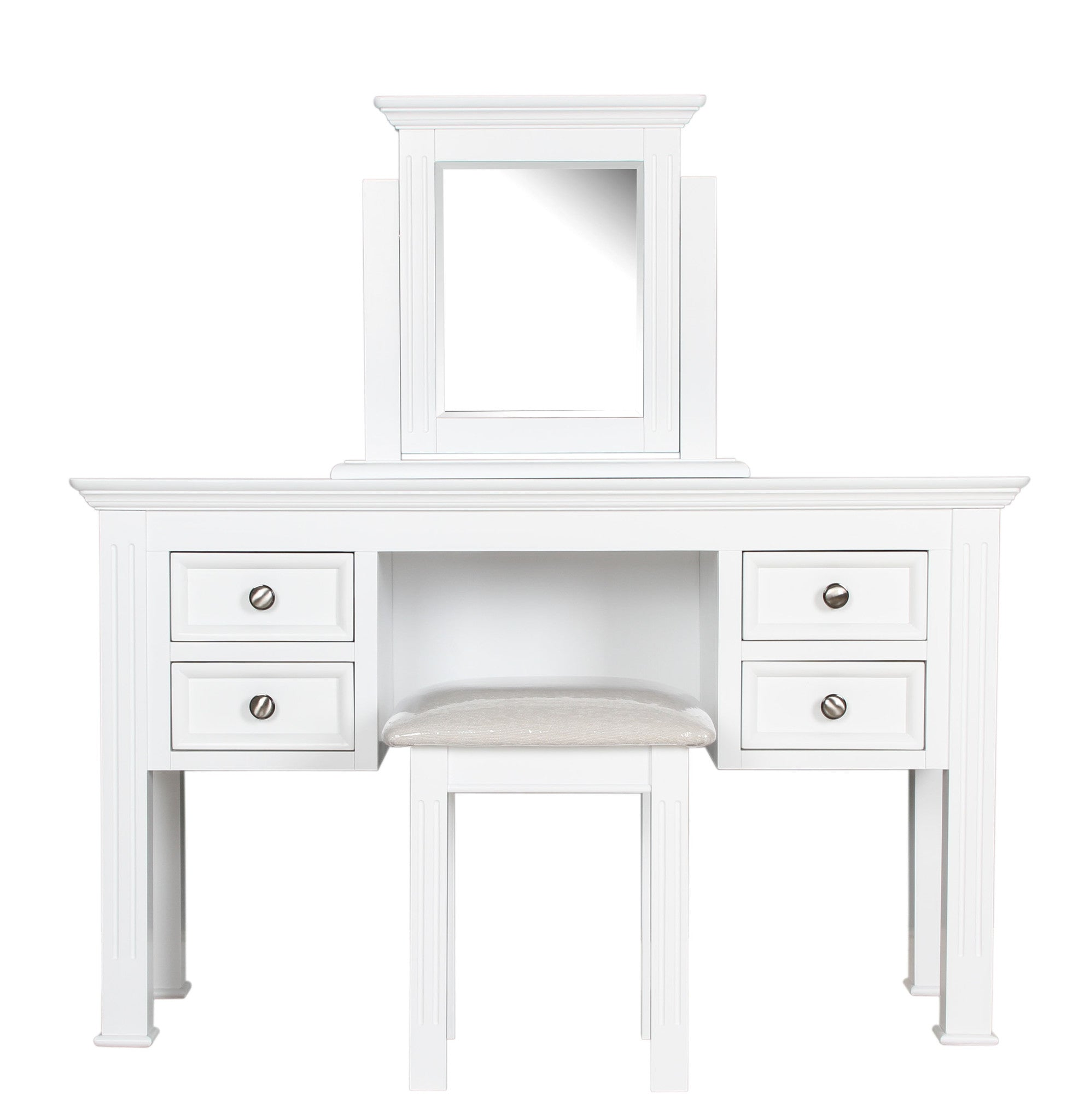 Pure White Bedroom Big Bundle Dressing table set